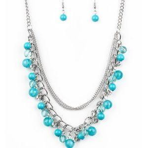 Blue and sliver necklace.